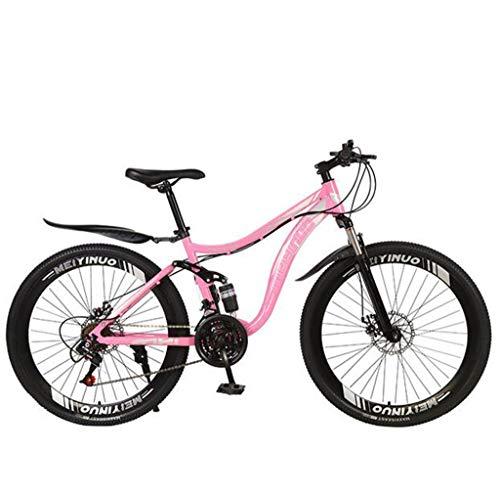 bicicletta zarma Mountain bike 27 velocità antiscivolo bici da 26 pollici pneumatici bici a sabbia doppia disco freno a sospensione a sospensione a sospensione per la bicicletta per ragazzi ragazze uomini e donne