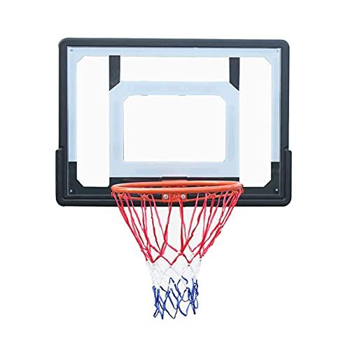 Canasta Baloncesto Aro De Baloncesto Portátil De Pared, con Tablero De PC Y Kit De Aro De Metal, para Niños Equipo De Entrenamiento De Baloncesto para Adultos Oficina En Casa (Color : Style1)