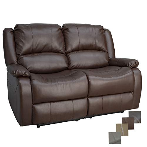 RecPro Charles Collection | 58' Double Recliner RV Sofa | RV Zero Wall Loveseat | Wall Hugger Recliner | RV Theater Seating | RV Furniture | RV Sofa | RV Sofa Bed | RV Couch | Mahogany