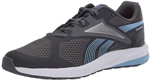 Reebok Women's Endless Road 2.0 Running Shoe, Cold Grey/Fluid Blue/Silver Metallic, 10 M US