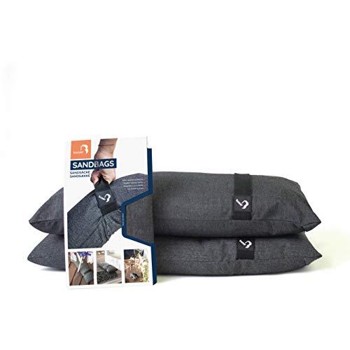 Baser Outdoor befüllbare gerade Sandsäcke: Gewicht/Beschwerung für Sonnenschirme, Türstopper, Trampolin, Ampelschirm, Wäscheständer, Alternative zu Beschwerungsplatten (2 x 15 kg)