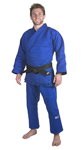 Ippon Gear Fighter Traje de Judo Azul Azul Talla:205