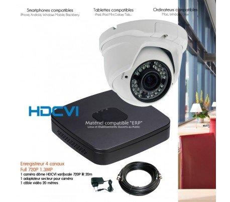 HD-CVI–Sistema HDCVI de video vigilancia con 1Cámara domo HDCVI varifocale–kit-d339–1x 2983–Disco duro de 500GB