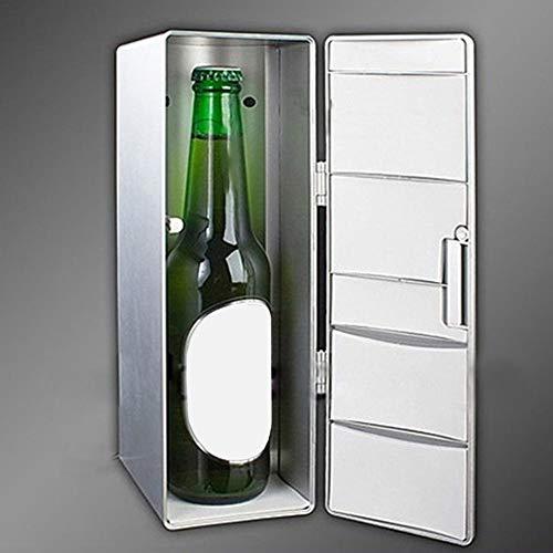 SHOH Frigorífico Portátil USB Mini Refrigerador Bebida Cerveza Latas Refrigerador, Nevera De Mesa para Dormitorios, Mini Bar Personal Completamente Silencioso, para Cosméticos Y Alimentos