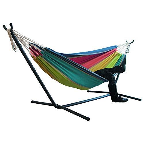 Camping Pure Double Tassel Canvas Hangmat, Slaap in Backyard Swing Bed voor Thuis Tuin Plaatsing Accessoires (Cor : Marrom)