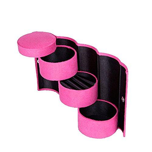gotobuyworld trois mini Roll-Up Snap bijoux boîte de rangement cas titulaire organisateur 13,5 * * * * * * * * 7,5 cm