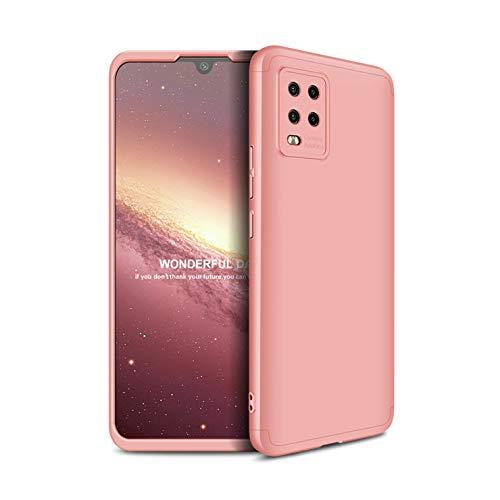 Tianyan Funda Xiaomi Mi 10 Lite,360 Grados Todo Incluido 3 en 1 Desmontable Ultra-Delgado Anti-Arañazos Protectora Caso Carcasa para Xiaomi Mi 10 Lite,Rosa