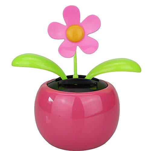 Wakerda Car Solar Sun Flower Swing Flowerpot Flip Flap Bailando Flor de Juguete Coche de Juguete de Regalo Decoración del Hogar Plantas Estilo Aleatorio