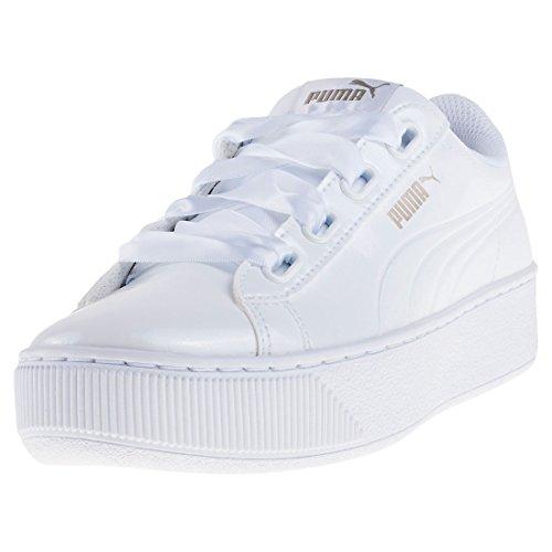 Puma Damen Vikky Platform Ribbon P Sneaker, Weiß White White, 39 EU