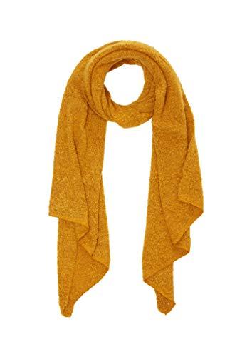 s.Oliver Damen Bouclé-Schal aus softer Qualität golden yellow knit 1