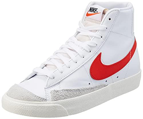 Nike Blazer Mid '77 Vintage, Zapatillas Deportivas Mujer, White Habanero Red Sail, 40 EU