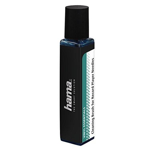 Hama Reinigungsbürste für Schallplattennadeln (1 Carbonfaser-Nadelbürste, 20 ml Nadel-Reinigungsflüssigkeit) Nadelreiniger, Nadelreinigungsbürste