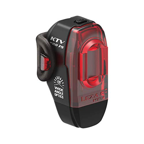 Lezyne Ktv Pro - Illuminazione posteriore per bicicletta/vtt, LED ricaricabile USB, unisex, per adulti, nero, taglia unica