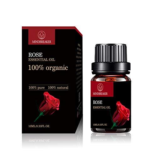 Olio essenziale biologico, oli aromatici aromatizzati organici 100% oli essenziali terapeutici puri di grado premium (10 ml)...
