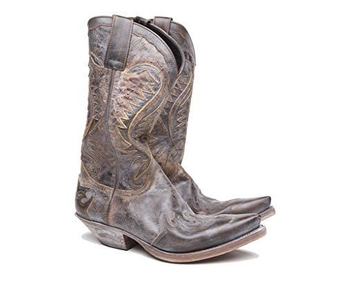 Sendra Boots Botas Cowboy 2535 Cuervo BRITNES FLO Barbados Efecto Segunda Mano