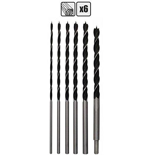 Spiralbohrer Set 6-teilig 4-14mm 300mm lang Holzbohrer Bohrersatz