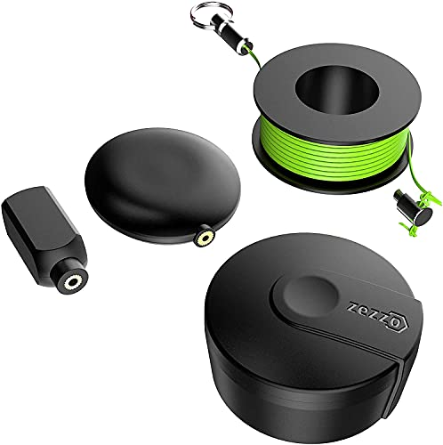 Zezzo Wiremag Puller, Fish Tape Wire Puller, Magnetic Wire Pulling System For Home And Outdoor, Running Wire Cable Coaxial Electrical Fish Tape Pull Push Kit For Office And Garden