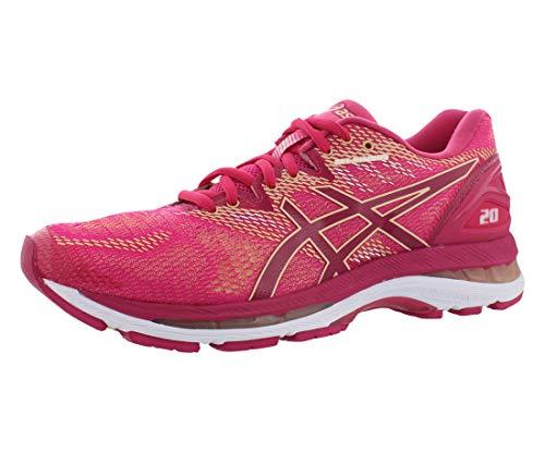Asics - Zapatillas de running Gel-Nimbus 20 para mujer, Marrón (Rosa brillante/Rosa brillante/albaricoque), 36 EU
