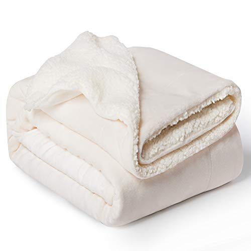 Bedsure Sherpa Fleece Blanket Throw Size Off White Plush Throw Blanket Fuzzy Soft Blanket Microfiber