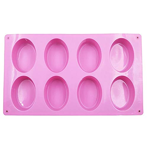 N/AS 1Pcs Fondant Cake Mould Easy Cleaning Kitchen Gadgets Oval Non-Toxic Silicone Cake Decoration Tools Soap Mold