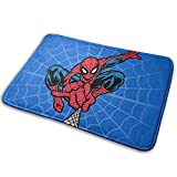 Marvel Superhero Bath Rugs Spiderman Plush Bathroom Rug Bathroom Decor Mat with Non Slip Backing 18x30 Inch Blue