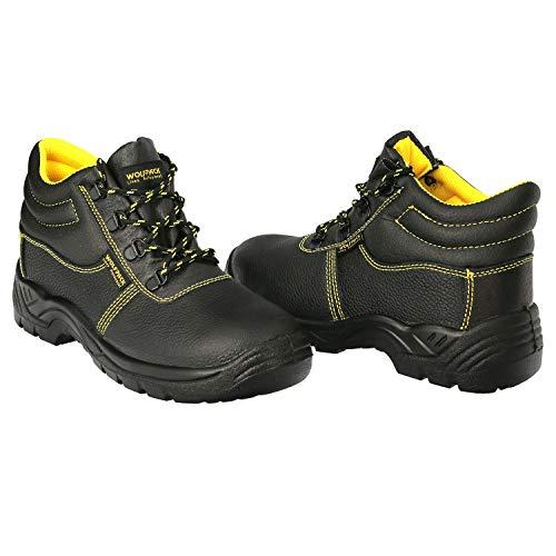 WOLFPACK LINEA PROFESIONAL Botas Seguridad S3 Piel Negra Wolfpack Nº 41 Vestuario Laboral,calzado Seguridad, Botas Trabajo.