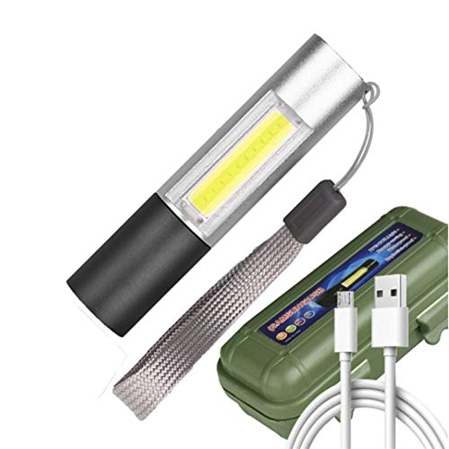 Batería incorporada en la batería XP-G Q5 Zoom Focus 2000 Lumens Mini LED Linterna Lámpara de antorcha Ajustable Pen Light Impermeable para exteriores Z50 (Body Color : 1 PCS)