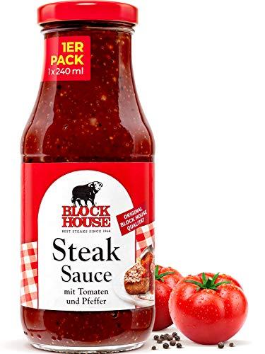 Block House Steak Sauce 240ml für Fleisch oder Fisch-Gerichte - in Restaurantqualität