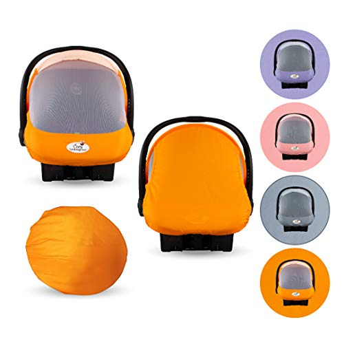 Summer Cozy Cover Sun & Bug Cover (Orange Mango) - The Industry Leading Infant Carrier Cover Trusted by Over 2 Million Moms Worldwide for Protecting Your Baby from Mosquitos, Insects & The Sun