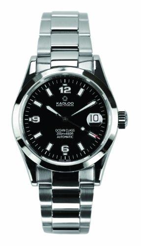 Kadloo Damen-Armbanduhr Ocean Class Date Steel Analog Automatik Edelstahl 80401-BK-S