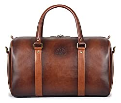 The Clownfish Maximus Faux Leather 27 Litre BronzeTravel Duffel Bag,The Clownfish,TCFDBFL-R29LBRO1