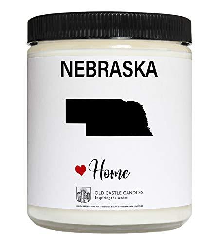 Nebraska Candle, Homesick Gift, Personalized College Dorm Decor, 8 ounce