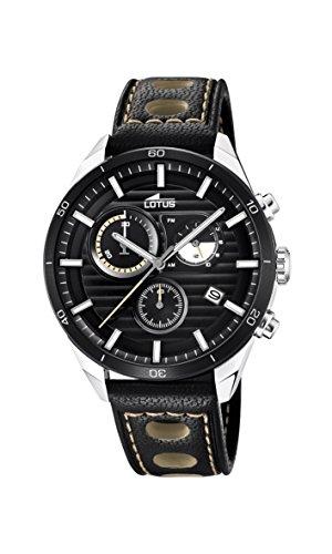 Lotus Watches Reloj Cronógrafo para Hombre de Cuarzo con Correa en Cuero 18531/1