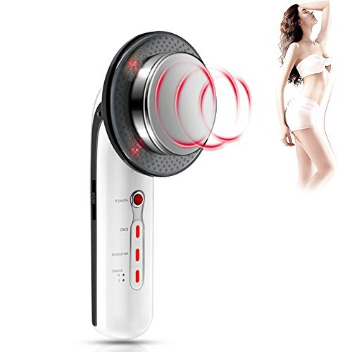 Máquina de eliminación de grasa, Cavitación de ultrasonido EMS Cuerpo masajeador adelgazante, Dispositivo infrarrojo ultrasónico, Reducción de celulitis, Ajuste de piel, Pérdida de peso(EU PLUG)