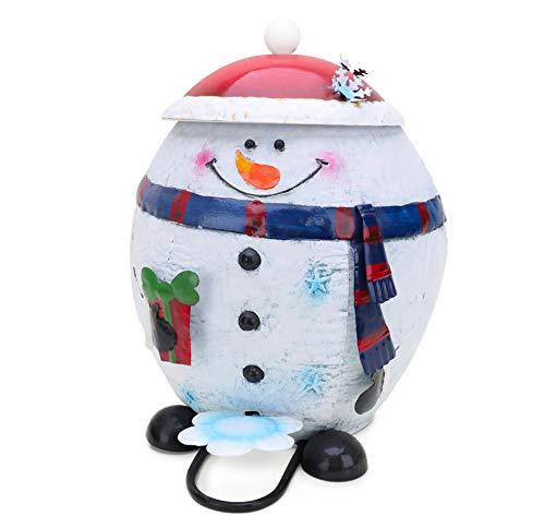 Christmas Concepts (MD Poubelle à pédale de Bonhomme de Neige en métal de 39 cm - Décorations de Noël