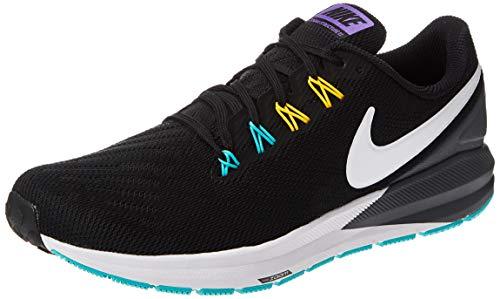 Nike Air Zoom Structure 22, Zapatillas de Atletismo para Hombre, Multicolor (Black/White/Dark Grey/Hyper Jade 000), 42 EU