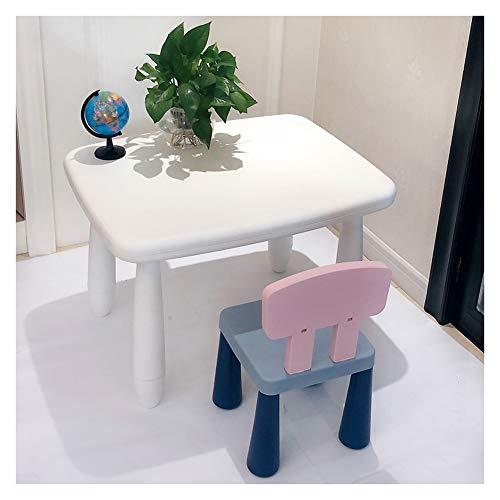 CHAXIA Chaise De Table Enfant Ensemble Meubles for Enfants Jardin d'enfants Table De Jeu Plastique Tables Blanches Chaise Rose, 4 Couleurs (Color : C)
