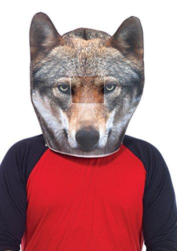 Leg Avenue 5 461 cm Masque Tête de Loup en Mousse Hommes de déguisement (Taille Unique)