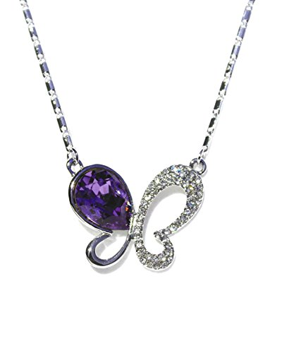 SWAROVSKI ELEMENTS Halskette Collier Damen Schmetterling Amethyst-farben