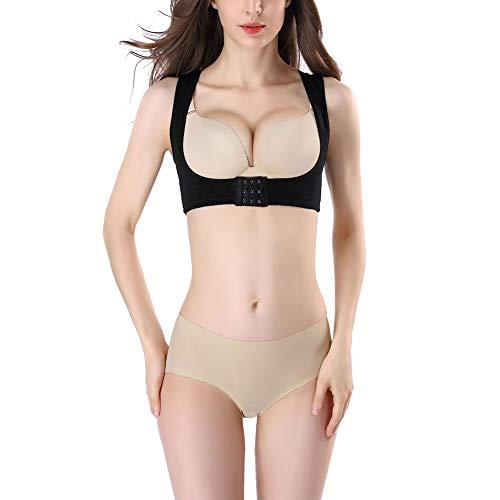 Humpback Posture Corrector, Women Chest Brace Up, Prevent Chest Hunchback, Sagging, Posture Corset Bra X Strap Vest (Black, Large)