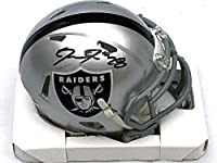 Josh Jacobs Signed Mini Helmet - Las Vegas Beckett Witnessed - Autographed NFL Mini Helmets