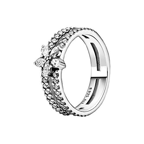 Pandora womens Sterling silver 925 Cubic Zirconia ring - 199236C01-56