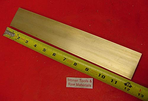 1/8' x 2' C360 BRASS FLAT BAR 12' long Solid .125' Plate Mill Stock H02
