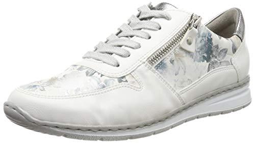 Jenny Damen Sapporo Sneaker , Weiß (Weiss, Pastell/Titan 77) , 37.5 EU (4.5 UK)