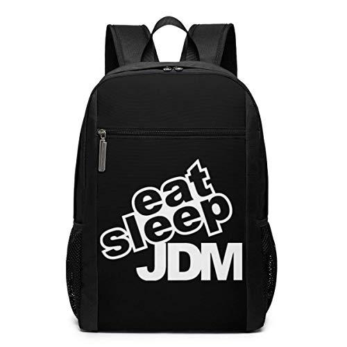 ZYWL Eat Sleep JDM Mochila para computadora portátil, Mochilas de Viaje, Mochilas Escolares, Mochila universitaria para Mujeres y Hombres de 17 Pulgadas