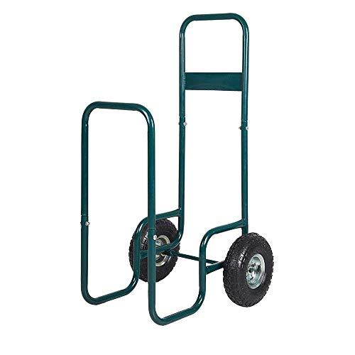 For Sale! Livebest Firewood Log Cart Carrier Rolling Wood Mover Hauler Fire Rack Storage Holder Back...
