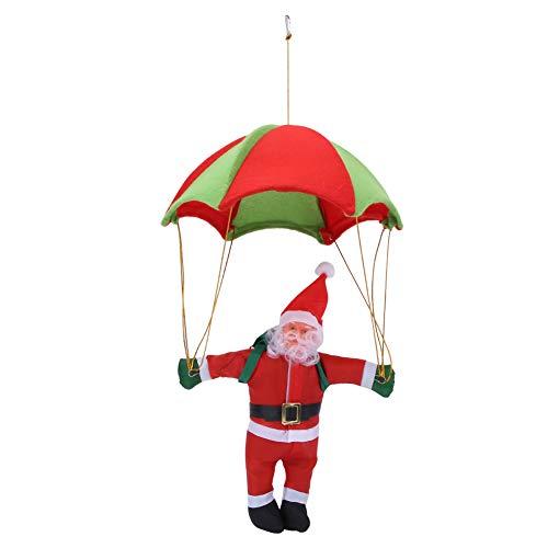 LFLF Muñeca Bebé Niño Navidad Juguetes Regalo Decoración35cm Paracaídas Santa Claus Encantador Colgante Paracaídas Santa Claus