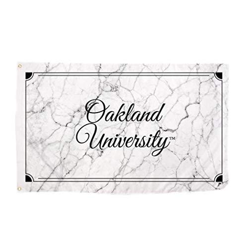 Desert Cactus Oakland University Golden Grizzlies NCAA 100% Polyester Indoor Outdoor 3 feet x 5 feet Sign Decor (Marble Flag)