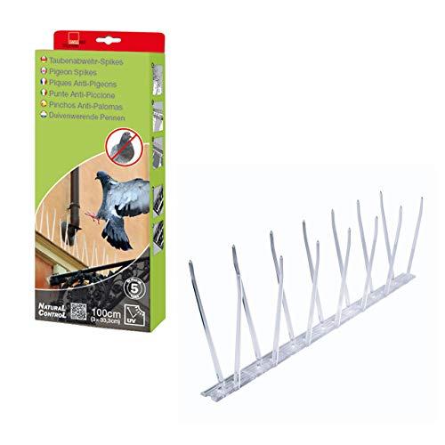 SWISSINNO 1 720 001KW NaturalControl Taubenabwehr-Spikes,Kunststoff, 100cm