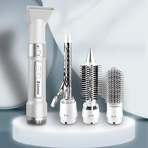 Haartrockner Warmluftbürste Lockenstab Set 4 in 1 2021 NEW BESTOPONE Lockenstäbe für alle Frisuren Lockenstyling
